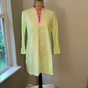 Lilly Pulitzer sz S coverup green seashell pattern